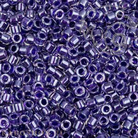 Бисер Delica 11-0 Сверкающий окрашенный изнутри хрусталь/фиолетовый DB0923