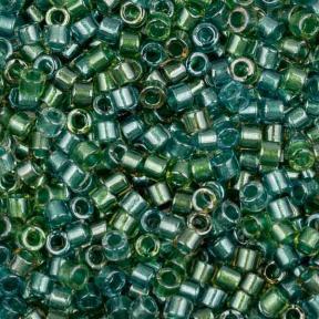Бисер Delica 11-0 Окрашенный изнутри сине-зеленый микс
