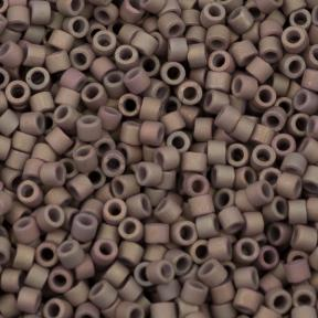 Бисер Delica 11-0 Матовый металлизированный радужный серая глина