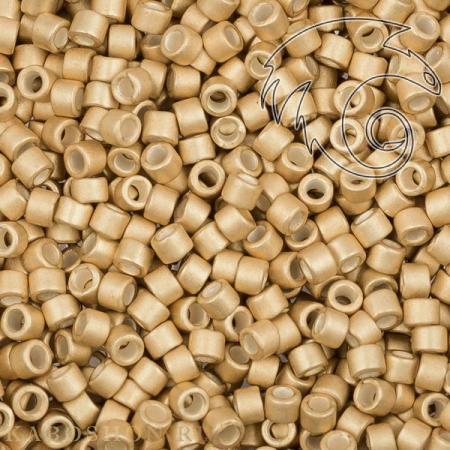 Бисер Delica 11-0 Гальванизированный полуматовый мед