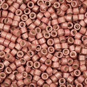 Бисер Delica 11-0 Гальванизированный полуматовый нежно-розовый