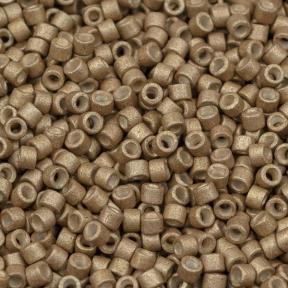 Бисер Delica 11-0 Гальванизированный матовый мёд