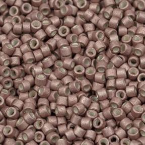 Бисер Delica 11-0 Гальванизированный матовый розовый румянец
