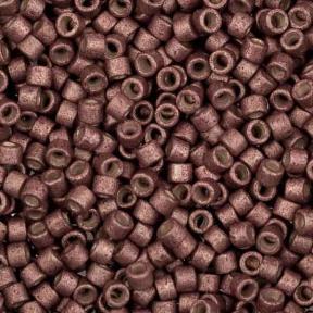 Бисер Delica 11-0 Матовый гальванизированный ягода