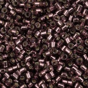 Бисер Delica 11-0 Внутреннее серебрение розовато-лиловый