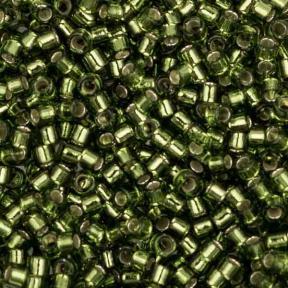 Бисер Delica 11-0 Внутреннее серебрение оливковый