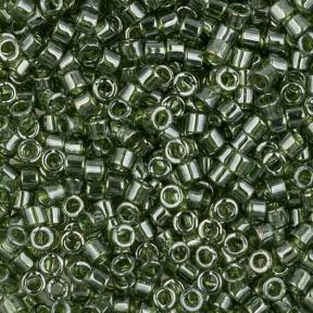 Бисер Delica 11-0 Глянцевый прозрачный оливковый