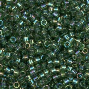 Бисер Delica 11-0 Прозрачный радужный оливковый