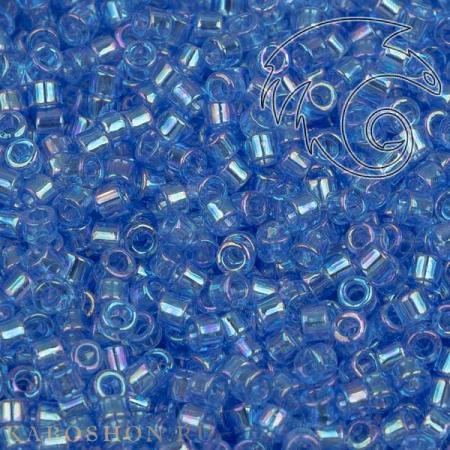 Бисер Delica 11-0 Радужный прозрачный лазурь
