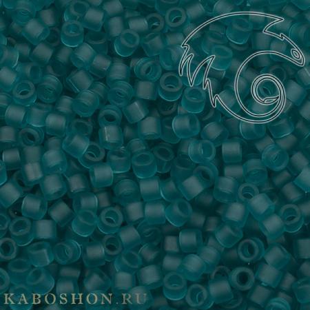 Бисер Delica 11-0 Матовый прозрачный карибский сине-зеленый
