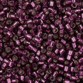 Бисер Delica 11-0 Внутреннее серебрение темная роза