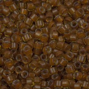 Бисер Delica 11-0 Окрашенный изнутри янтарь-горчица