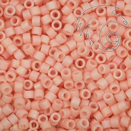 Бисер Delica 11-0 Матовый радужный непрозрачный светло-лососевый