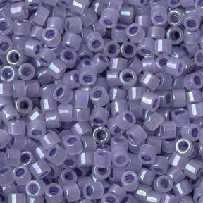 Бисер Delica 11-0 Окрашенный изнутри радужный сверкающий пурпурный-опал