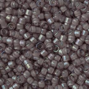 Бисер Delica 11-0 Окрашенный изнутри белый радужный дымчатый аметист