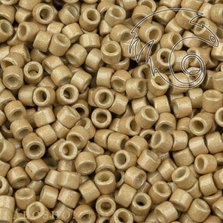 Бисер Delica 11-0 Duracoat Матовый гальванизированный золото
