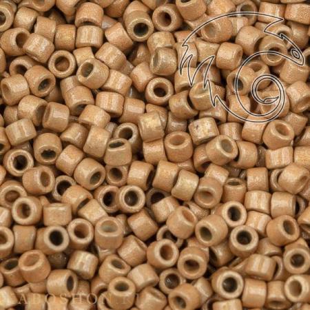 Бисер Delica 11-0 Duracoat Матовый гальванизированный желтое золото
