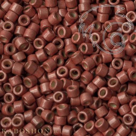 Бисер Delica 11-0 Duracoat Матовый гальванизированный ягода