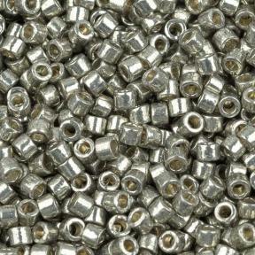 Бисер Delica 11-0 Duracoat Гальванизированный светлое олово