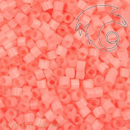 Бисер Delica 11-0 Сатин (шелк) окрашенный изнутри неон/фламинго