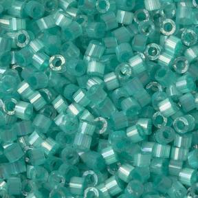 Бисер Delica 11-0 Сатин (шелк) окрашенный изнутри радужный зеленая вода