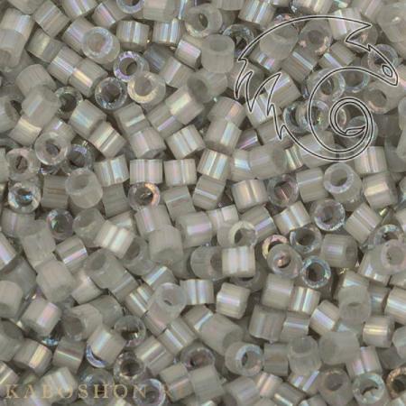 Бисер Delica 11-0 Сатин (шелк) окрашенный изнутри дымчато-серый