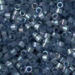 Бисер Delica 11-0 Сатин (шелк) окрашенный изнутри радужный сине-серый