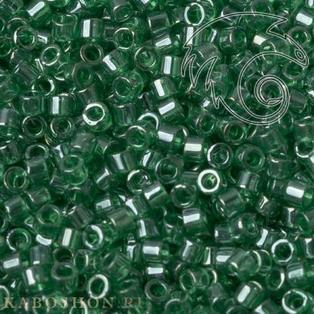 Бисер Delica 11-0 Глянцевый прозрачный зеленый