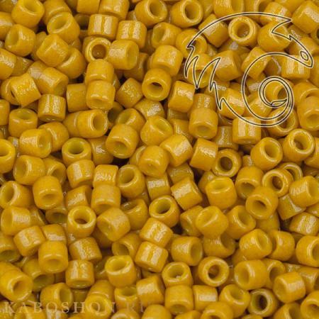 Бисер Delica 11-0 Duracoat Непрозрачный горчичный