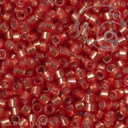 Бисер Delica 11-0 Duracoat Внутреннее серебрение красно-оранжевый