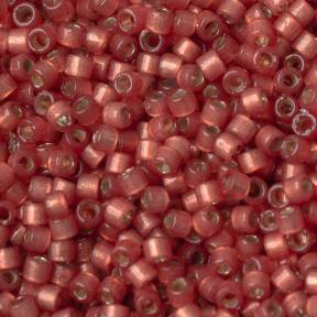 Бисер Delica 11-0 Duracoat внутреннее серебрение полуматовй арбуз