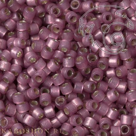 Бисер Delica 11-0 Duracoat Внутреннее серебрение полуматовый гортензия