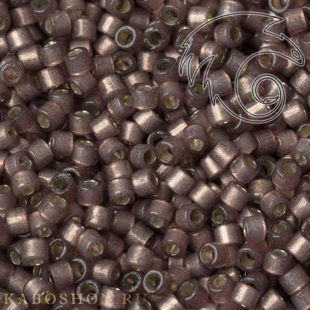 Бисер Delica 11-0 Duracoat Внутреннее серебрение полуматовый изюм