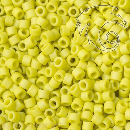 Бисер Delica 11-0 Матовый непрозрачный глазурованный сладкий лимон