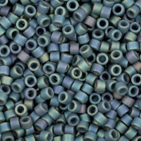 Бисер Delica 11-0 Матовый радужный непрозрачный глазурованный голубой каприз