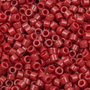 Бисер Delica 11-0 Duracoat непрозрачный красный