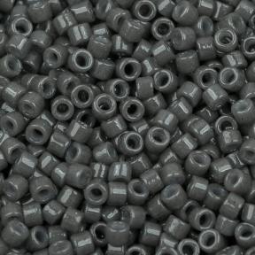 Бисер Delica 11-0 Duracoat непрозрачный древесный уголь