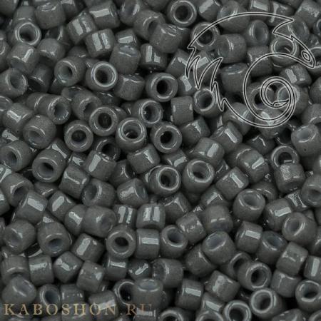 Бисер Delica 11-0 Duracoat Непрозрачный древеный уголь