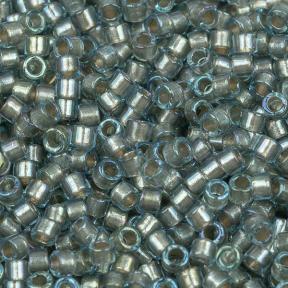 Бисер Delica 11-0 Окрашенный изнутри голубое серебро