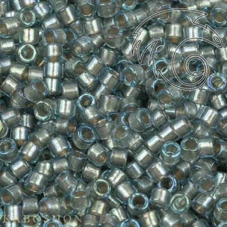 Бисер Delica 11-0 Окрашенный глянцевый изнутри голубое серебро