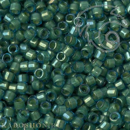 Бисер Delica 11-0 Окрашенный глянцевый изнутри зеленая вода