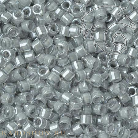 Бисер Delica 11-0 Окрашенный глянцевый изнутри серый