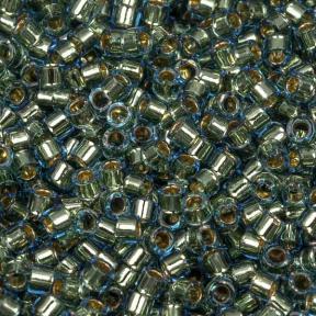 Бисер Delica 11-0 Окрашенный изнутри светло-синий/золотое покрытие 24K