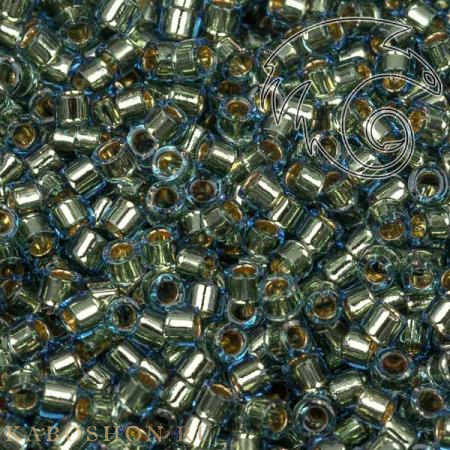 Бисер Delica 11-0 Окрашенный изнутри светло-синий - золотое покрытие 24K