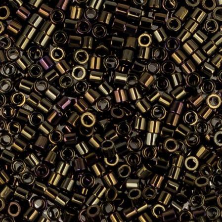 Бисер Delica 15-0 Металлизированный коричневый ирис