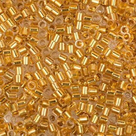 Бисер Delica 15-0 Окрашенный изнутри золото 24К