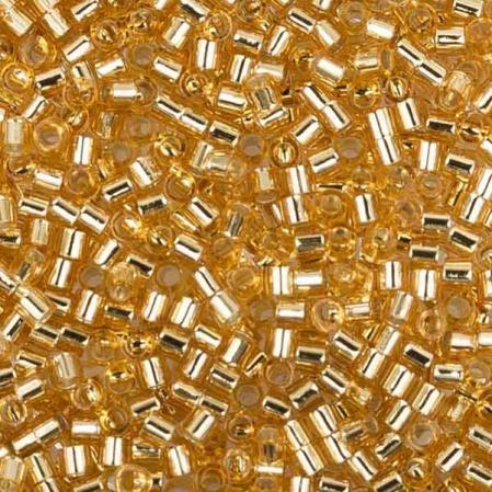 Бисер Delica 15-0 Внутреннее серебрение золото