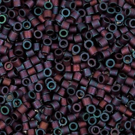 Бисер Delica 15-0 Матовый металлизированный пурпурный ирис