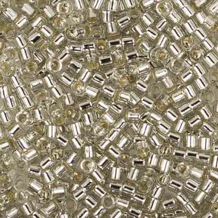 Бисер Delica 15-0 Внутреннее серебрение молочный серый туман