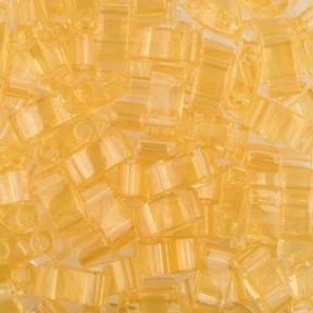 Бисер Half Tila Прозрачный светлый топаз